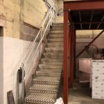 Aluminium tread plate stairs for a mezzanine floor