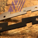 A laser cut and press brake folded metal bracket