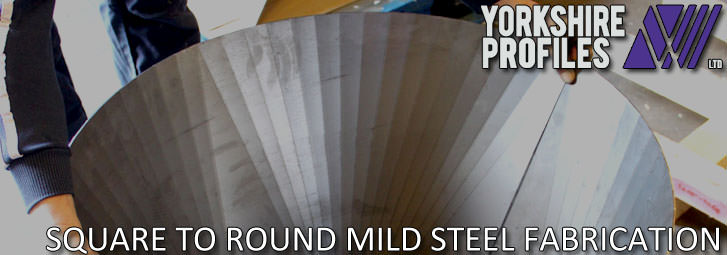 A steel square to round fabrication from step-bending