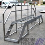 A stainless steel gantry for the food manufacture industry