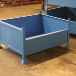 Steel stillages for industrial and workshop storage