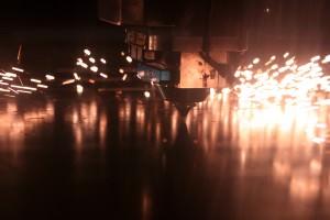 Laser cutter piercing mild steel sheet metal