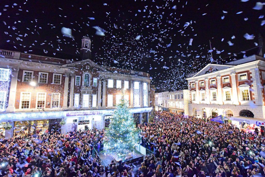 St Leonard's Hospice Christmas Tree in St Helen's Square York