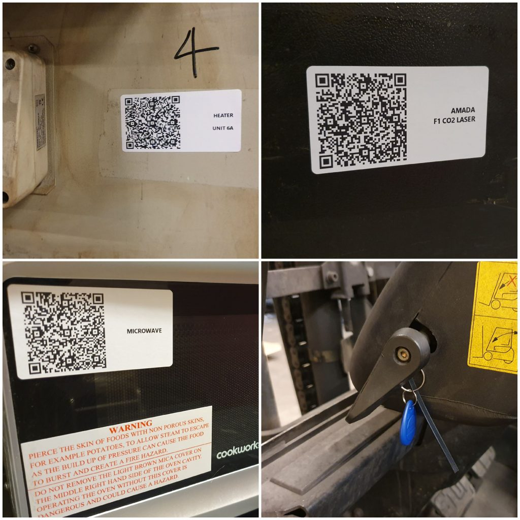 equipment qr codes